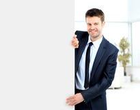 Бизнесмен демонстрирует projec Стоковые Фотографии RF