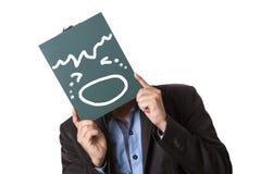 Бизнесмен держа зеленое классн классный изолированный Стоковые Изображения RF