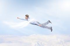 Бизнесмен летания стоковое изображение rf