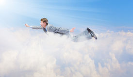 Бизнесмен летания стоковая фотография rf