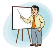 Бизнесмен делает представление Стоковые Изображения