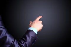 Бизнесмен, жест, перст Стоковое Изображение