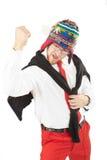 бизнесмен задыхается красный whit Стоковая Фотография