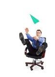 бизнесмен играя детенышей Стоковые Фотографии RF