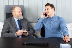 Бизнесмен имея встречу Стоковое фото RF