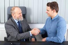 Бизнесмен имея встречу Стоковое Фото
