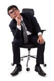 бизнесмен имея усилие стоковая фотография