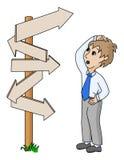 Бизнесмен ища путь Стоковое Изображение