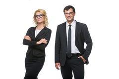 Бизнесмен и бизнес-леди Стоковое Изображение