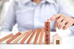 Бизнесмен и домашняя модель, страхование Стоковое фото RF