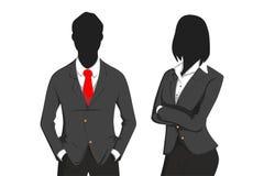 Бизнесмен и девушка Стоковое Изображение
