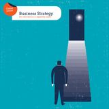 Бизнесмен и лестницы водя к его мечтам Стоковое Фото