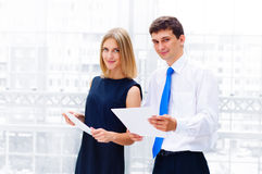 Бизнесмен и женщина дела Стоковая Фотография