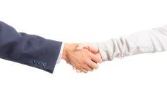 Бизнесмен и женщина тряся руку Стоковое Изображение RF
