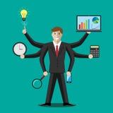 Бизнесмен или менеджер, multitasking Стоковые Фото
