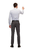 Бизнесмен или учитель с отметкой от задней части Стоковое фото RF