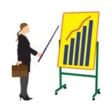 Бизнесмен и доска с план-графиком Стоковая Фотография