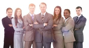 Бизнесмен и профессиональная многонациональная команда дела Стоковая Фотография