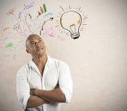 Бизнесмен и творческое дело Стоковое Изображение
