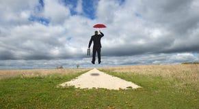Бизнесмен, карьера дела на дороге к успеху Стоковая Фотография