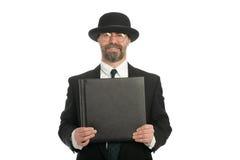 бизнесмен книги стоковое изображение rf