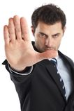 бизнесмен красивый Стоковое Изображение RF