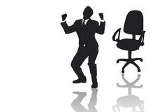 бизнесмен кресла его скача вне Стоковое Изображение RF