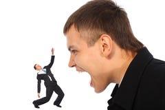 бизнесмен кричит детеныши Стоковые Фотографии RF