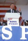 Бизнесмен миллионера и кандидат в президенты Ross Perot говорят на приводе ходатайства в округ Орандж Калифорния 1992 Стоковые Изображения