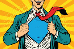 Бизнесмен мужчины супергероя иллюстрация вектора