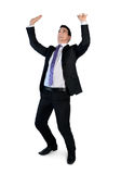 Бизнесмен нажимает вверх что-то Стоковая Фотография RF