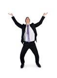 Бизнесмен нажимает вверх что-то Стоковое Изображение RF