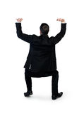 Бизнесмен нажимает вверх что-то Стоковая Фотография