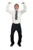 бизнесмен нажимая вверх Стоковые Фотографии RF