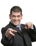 бизнесмен напористый стоковые фотографии rf