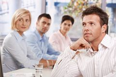 Бизнесмен на встрече Стоковое Фото