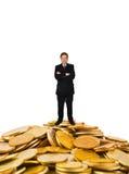 Бизнесмен на деньгах стоковая фотография rf