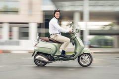 Бизнесмен на колесах Стоковое Фото