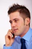 Бизнесмен на мобильном телефоне Стоковое Изображение