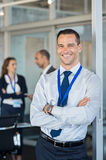 Бизнесмен на семинаре Стоковое Изображение RF