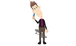 Бизнесмен на сотовом телефоне иллюстрация вектора