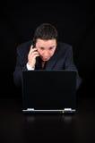 Бизнесмен на телефоне Стоковая Фотография