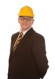 Бизнесмен нося трудный шлем Стоковые Фото