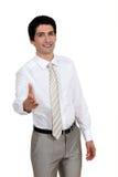 Бизнесмен около для того чтобы трясти руки. Стоковое Изображение RF