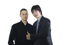 бизнесмен оставаясь совместно 2 Стоковое Изображение RF