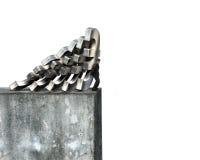 Бизнесмен останавливая падая деньги евро с бетонной стеной Стоковая Фотография RF