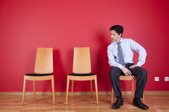 Бизнесмен ослабляя Стоковая Фотография RF