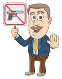 Бизнесмен - отсутствие знака оружия Стоковое фото RF