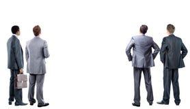 4 бизнесмен от задней части - смотрящ Стоковая Фотография