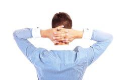 Бизнесмен от задней части Стоковое Изображение